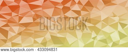 Low Poly Abstract Modern Background. Bright Colors Chaotic Triangles Of Variable Size And Rotation.
