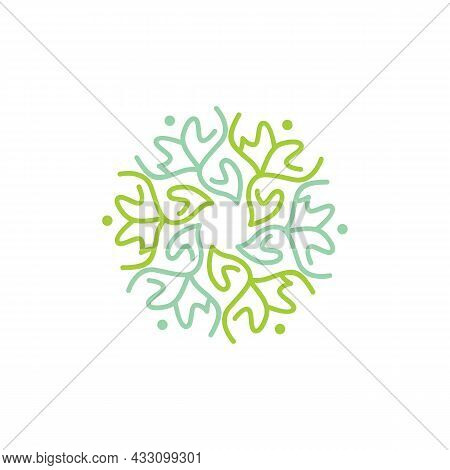 Abstract Stylish Plant Save Nature Logo Icon Flat Concept Vector Graphic Design