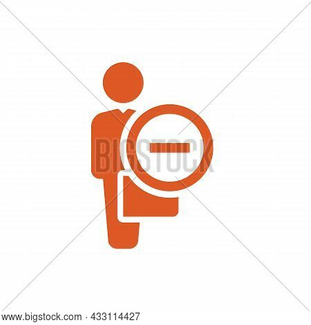 Person Icon With Briefcase And Minus Sign