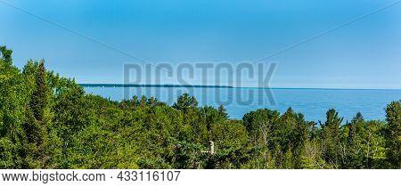 Scenic Overlook Of Lake Huron Near Rogers City Michigan