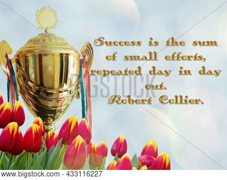 Motivational Quote Inspiring Success. Best Positive Quotes And Sayings About Life, Wisdom, Positivit