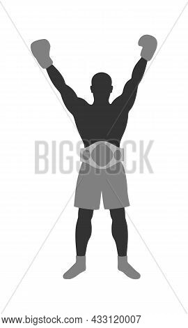Boxer Winner Graphic Icon. Boxer Sign Isolated On White Background. Boxing Symbol. Vector Illustrati