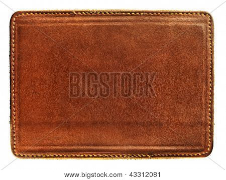 Leere Jeans-Label, isolated on white