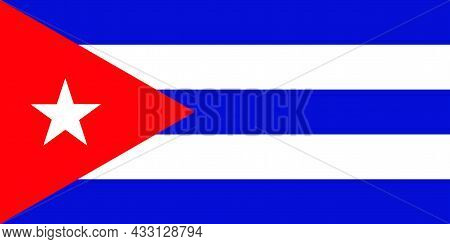Republic Of Cuba Flag Is In The Northern Caribbean Sea