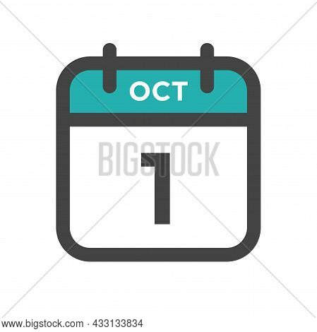 October 1 Calendar Day Or Calender Date For Deadline And Appointment