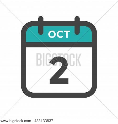 October 2 Calendar Day Or Calender Date For Deadline And Appointment