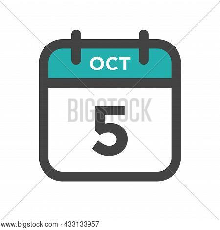 October 5 Calendar Day Or Calender Date For Deadline And Appointment