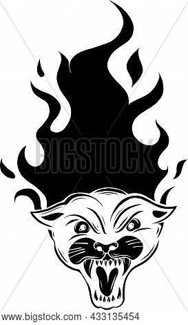 Head Of The Black Panther. Emblem For Design. Vector