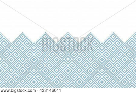 Abstract Geometric Pattern. Modern Vector Background. White And Blue Ornament. Graphic Modern Patter
