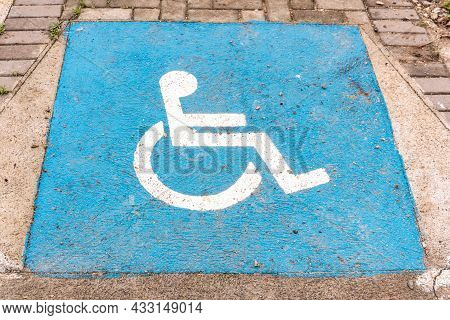 Sidewalk Space Intended For Access By Wheelchair Users, Wheelchair Users, With The Universal Symbol