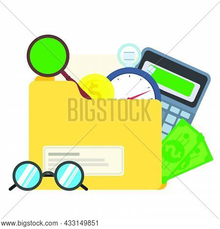 Finance Business Icon Vector Money Illustration Currency. Banking Symbol Finance Business Icon Inves