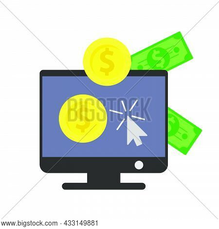 Money Finance Currency Vector Illustration Dollar And Coin Business Investment. Cash Money Finance B
