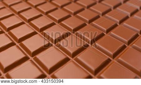 Chocolate Pieces Chocolate Milk Bar 3d Illustration 3d Rendering 3d Illustration
