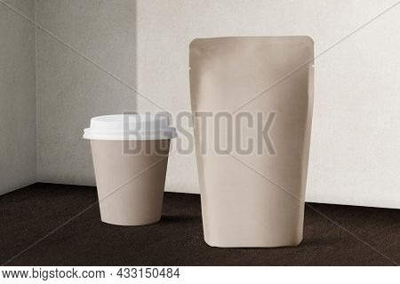 Paper cup and pouch for food and drink packaging