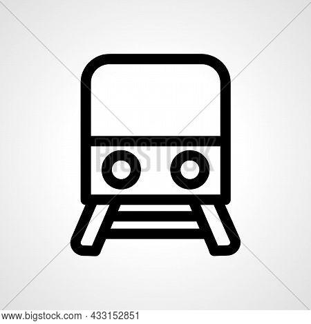 Train Vector Line Icon. Train Linear Outline Icon.