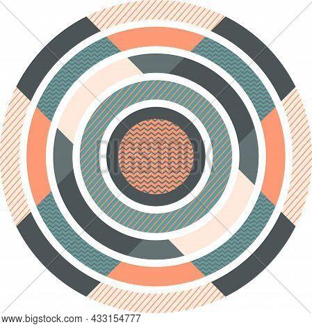 Trend Geometric Pattern. Geometry Minimalistic Artwork Poster