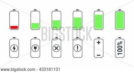 Battery Charging Icons. Phone Charging Indicator. The Battery Is Charging. Battery Charging Status.