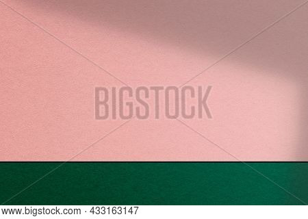 Pink and green product backdrop wall