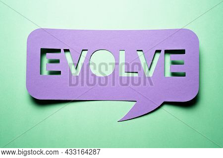 Evolve Business, Change, Rethink And Innovate Speech Bubble