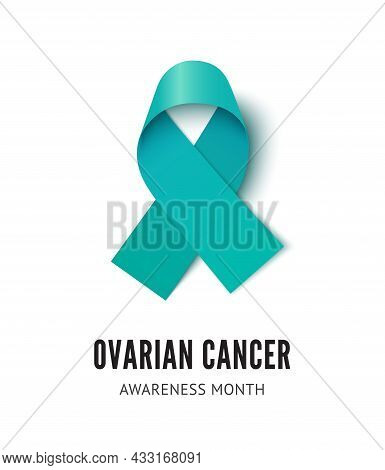 Ovarian Cancer Awareness Ribbon Vector Illustration Isolated