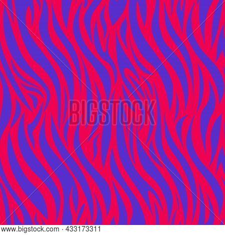 Seamless Pattern Of Zebra Stripes. Vector Illustration