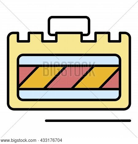 Welder Id Card Icon. Outline Welder Id Card Vector Icon Color Flat Isolated On White