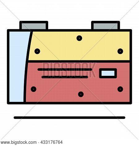 Welder Machine Equipment Icon. Outline Welder Machine Equipment Vector Icon Color Flat Isolated On W