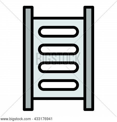 Scaffolding Icon. Outline Illustration Of Scaffolding Vector Icon Color Flat Isolated On White