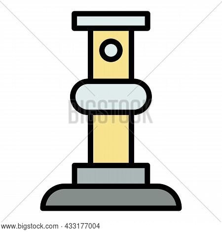 Scaffold Support Bar Icon. Outline Illustration Of Scaffold Support Bar Vector Icon Color Flat Isola