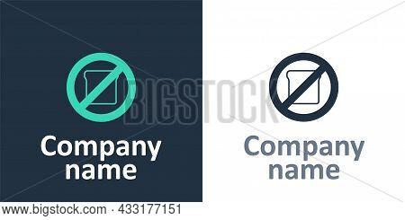 Logotype Gluten Free Grain Icon Isolated Logotype Background. No Wheat Sign. Food Intolerance Symbol