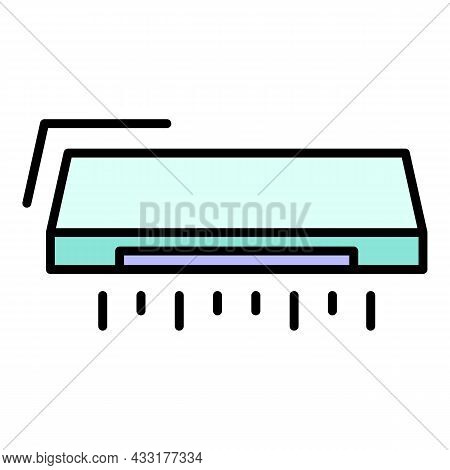 Air Conditioner Icon. Outline Air Conditioner Vector Icon Color Flat Isolated On White