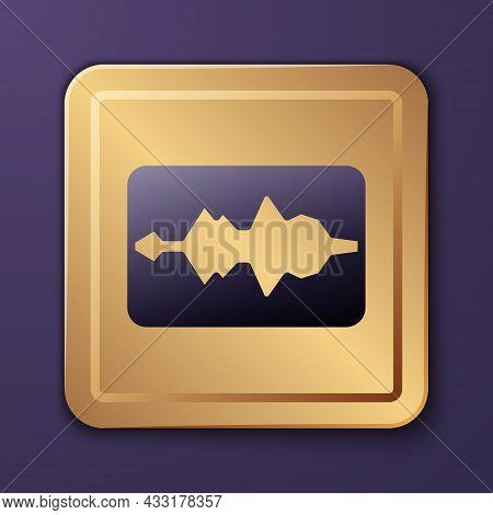 Purple Music Wave Equalizer Icon Isolated On Purple Background. Sound Wave. Audio Digital Equalizer