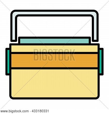 Big Lunchbox Icon. Outline Big Lunchbox Vector Icon Color Flat Isolated On White
