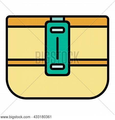 Camp Lunchbox Icon. Outline Camp Lunchbox Vector Icon Color Flat Isolated On White