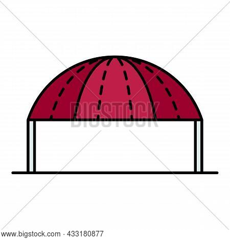 Party Tent Icon. Outline Party Tent Vector Icon Color Flat Isolated On White