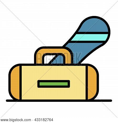 Snowboarding Equipment Icon. Outline Snowboarding Equipment Vector Icon Color Flat Isolated On White