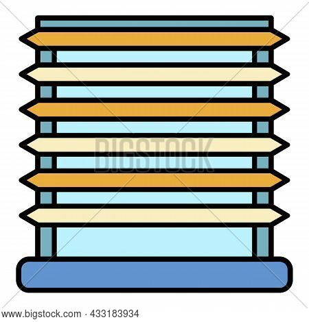 Horizontal Louvers Icon. Outline Horizontal Louvers Vector Icon Color Flat Isolated On White