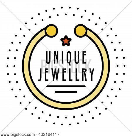 Unique Bracelet Jewelry Logo. Outline Unique Bracelet Jewelry Vector Logo Color Flat Isolated On Whi