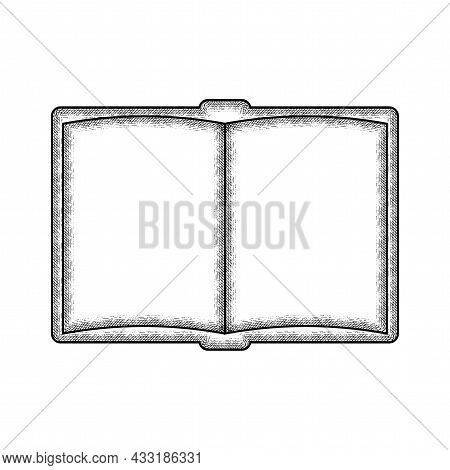 Isolated Vintage Sketch Of A Book School Supply Icon Vector