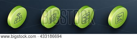 Set Isometric Line Spy, Agent, Mourning Photo Frame, Barbed Wire And Judge Gavel Icon. Vector