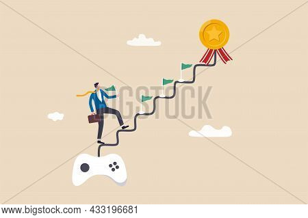 Gamification, Business Or Marketing Strategy Using Game Challenge, Achievement To Engage With Custom