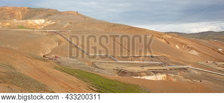 Factory Area, Processing High Pressure Water For Green Energy, Iceland