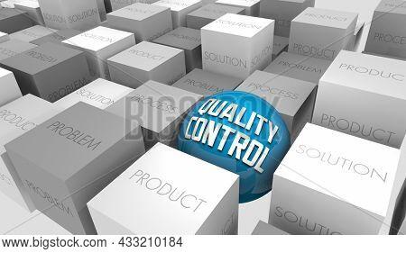 Quality Control Product Process Problem Solution Improve QC 3d Illustration