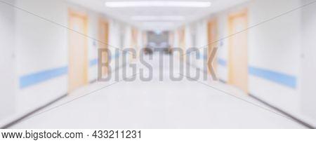 Abstract Blur Hospital Corridor Defocused Medical Background