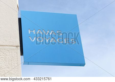 Villefranche, France - May 20, 2021: Havas Voyages Logo On A Wall. Havas Voyages Is A Travel Distrib