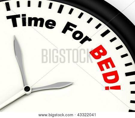 Tijd voor Bed tonen van slapeloosheid of vermoeidheid