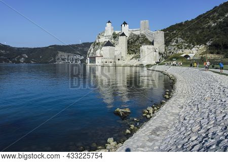 Golubac Fortress At The South Side Of The Danube River, Serbia