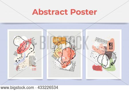 Collection Abstract Posters Modern Artwork Interior Decor Vector Flat Romantic Vertical Wallpapers