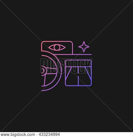Built In Night Vision Gradient Vector Icon For Dark Theme. Enhance Driver Vision At Nighttime. Therm