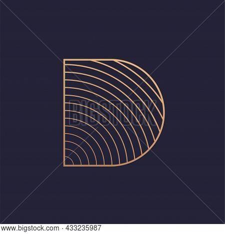 Luxury Style Letter D Vector Logo Design.